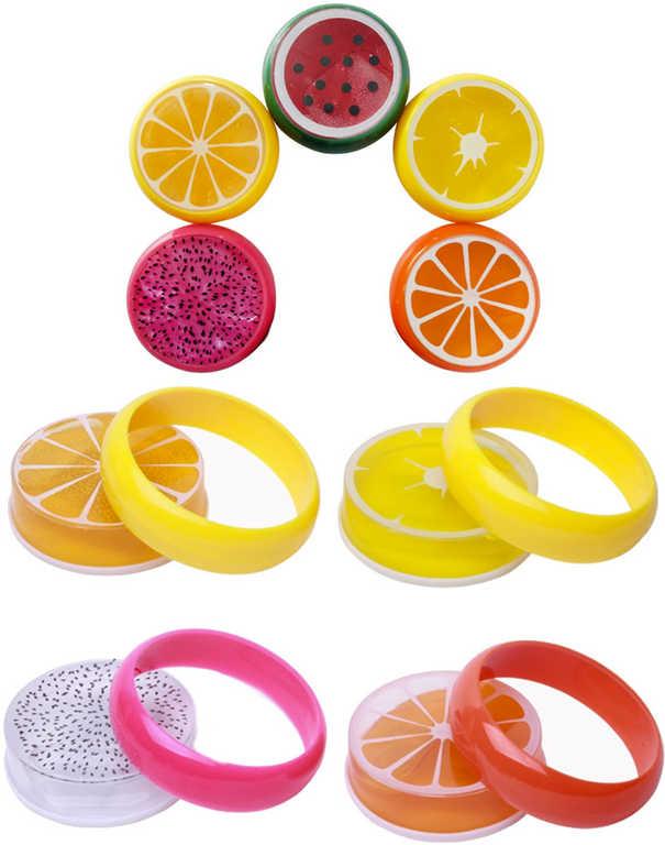 Sliz zábavný ovoce 5,5 cm zábavná antistresová hmota v krabičce - 5 druhů