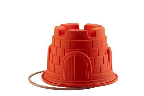 Forma na bábovku ve tvaru hradu - silikon