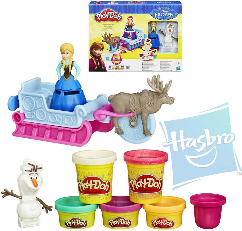 PLAY-DOH Modelína Frozen set 5 kelímků s doplňky a figurkami