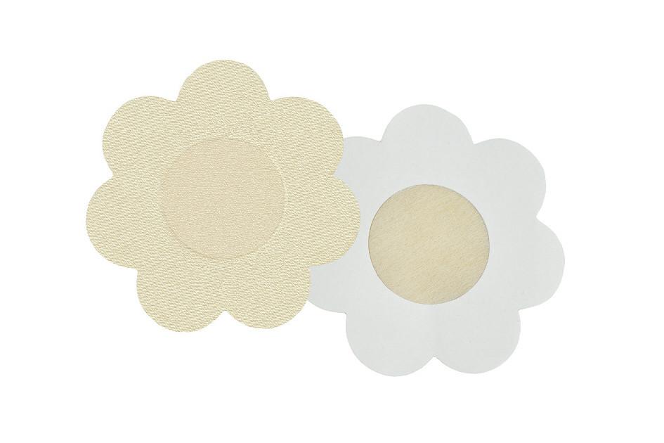 Nálepky na bradavky PS 07 - Julimex - Béžová/květinky