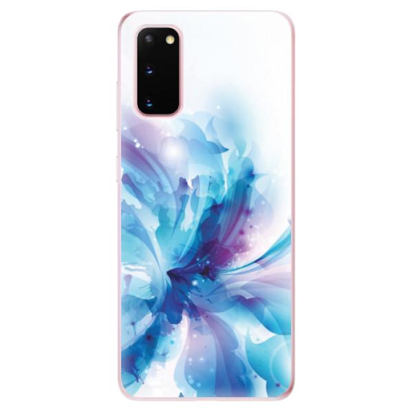 Odolné silikonové pouzdro iSaprio - Abstract Flower - Samsung Galaxy S20