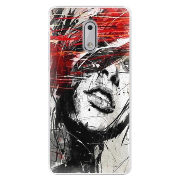 Plastové pouzdro iSaprio - Sketch Face - Nokia 6