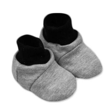 Botičky/ponožtičky,Little prince/princess bavlna - šedé - 0/6 měsíců