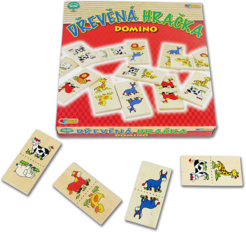 DŘEVO Hra Domino zvířátka