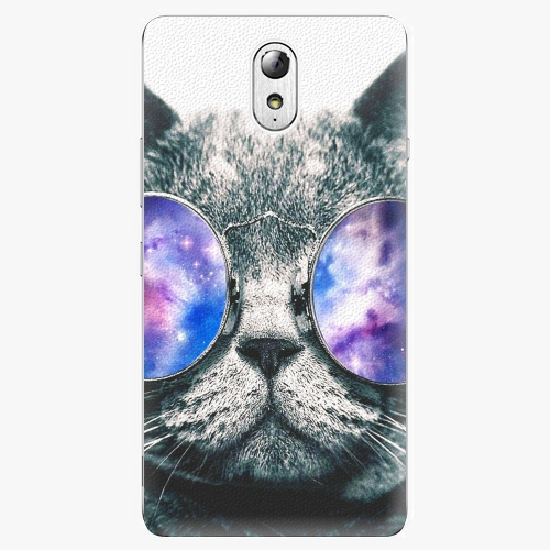 Plastový kryt iSaprio - Galaxy Cat - Lenovo P1m