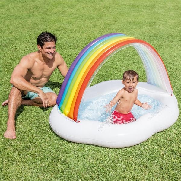 Nafukovací bazén dětský Duha 142 x 119 x 84 cm