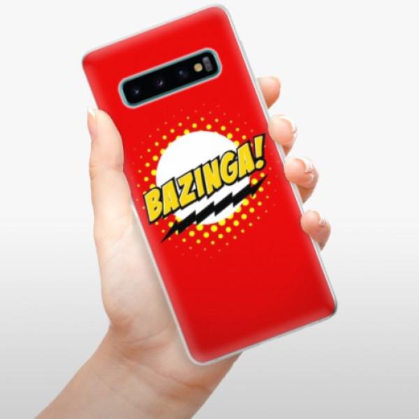 Odolné silikonové pouzdro iSaprio - Bazinga 01 - Samsung Galaxy S10