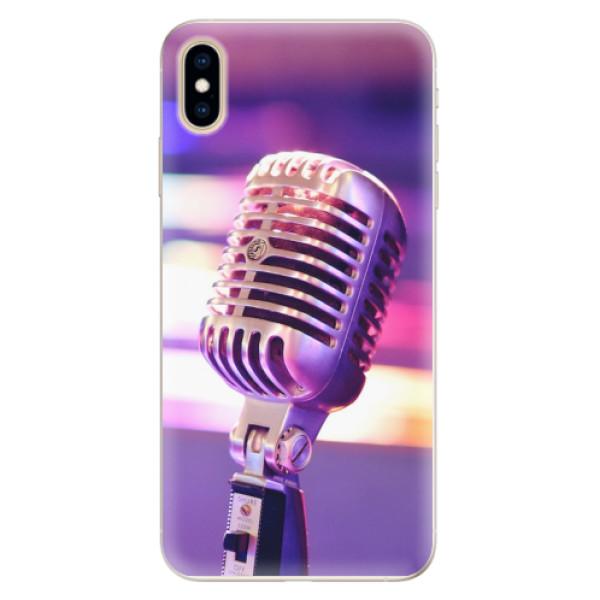 Silikonové pouzdro iSaprio - Vintage Microphone - iPhone XS Max