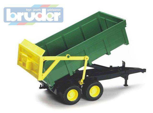 BRUDER 02210 (2210) Přívěs - automatická stěna - zelený