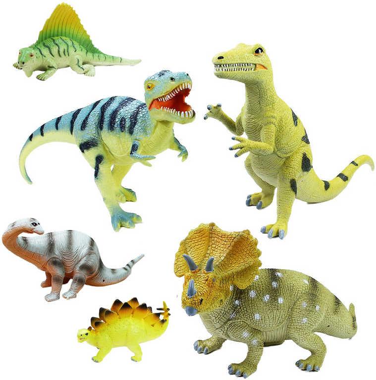 Dinosaurus nový 23cm zvířátko tvrdá guma 6 druhů