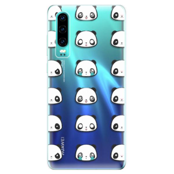 Odolné silikonové pouzdro iSaprio - Panda pattern 01 - Huawei P30