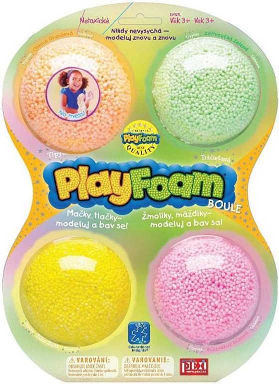 PEXI PlayFoam modelína pěnová boule třpytivá dětská modelína set 4 ks