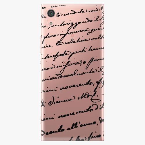 Plastový kryt iSaprio - Handwriting 01 - black - Sony Xperia XA1