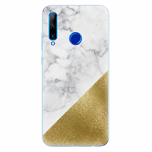 Silikonové pouzdro iSaprio - Gold and WH Marble - Huawei Honor 20 Lite