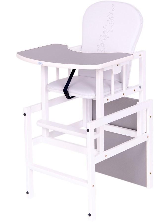 Borovicová židlička Drewex Antonín Hvězdičky - šedá