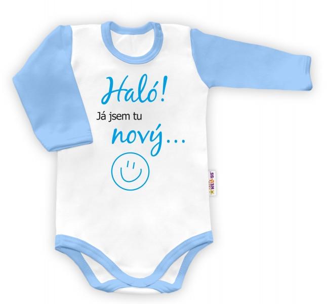 Baby Nellys Body dlouhý rukáv vel. 68,, - 68 (4-6m)