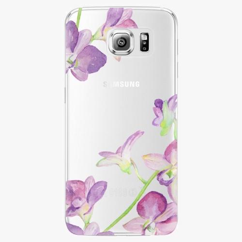 Plastový kryt iSaprio - Purple Orchid - Samsung Galaxy S6 Edge Plus