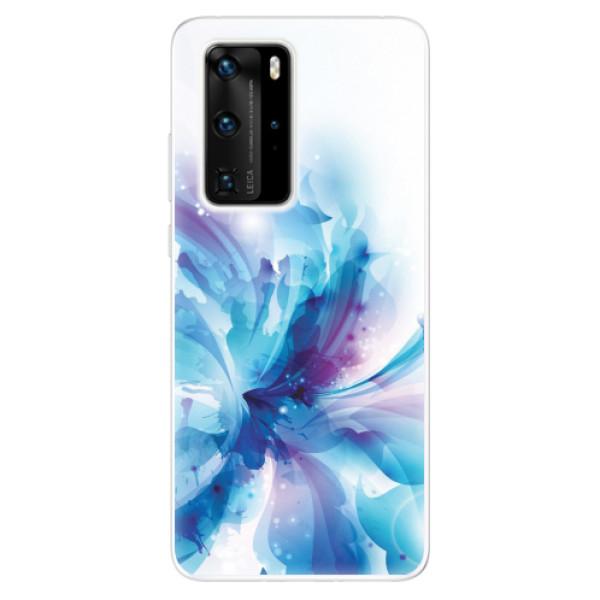 Odolné silikonové pouzdro iSaprio - Abstract Flower - Huawei P40 Pro