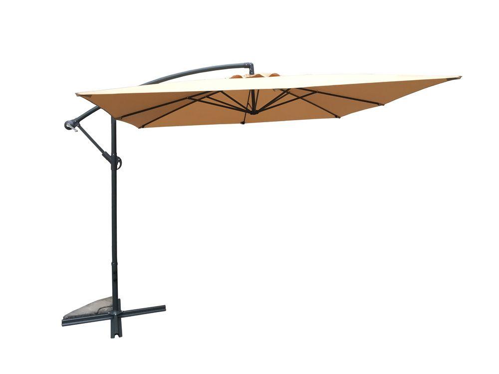 Zahradní slunečník kovový 270 cm - béžový