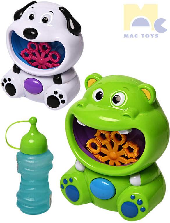 MAC TOYS Zvířátko stroj na bubliny bublifukovač s náplní na baterie - 2 barvy