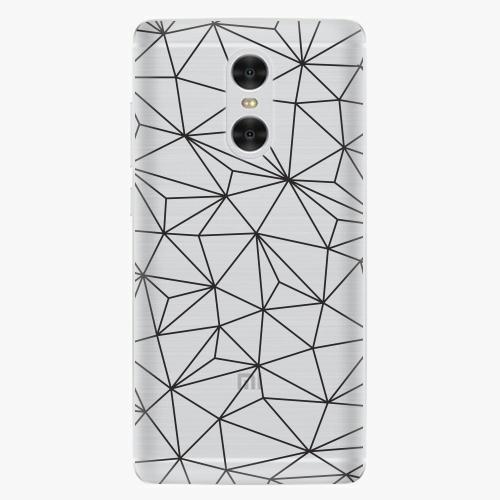 Plastový kryt iSaprio - Abstract Triangles 03 - black - Xiaomi Redmi Pro
