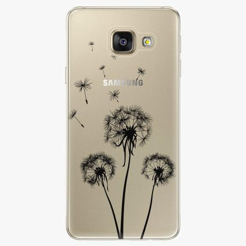 Plastový kryt iSaprio - Three Dandelions - black - Samsung Galaxy A3 2016