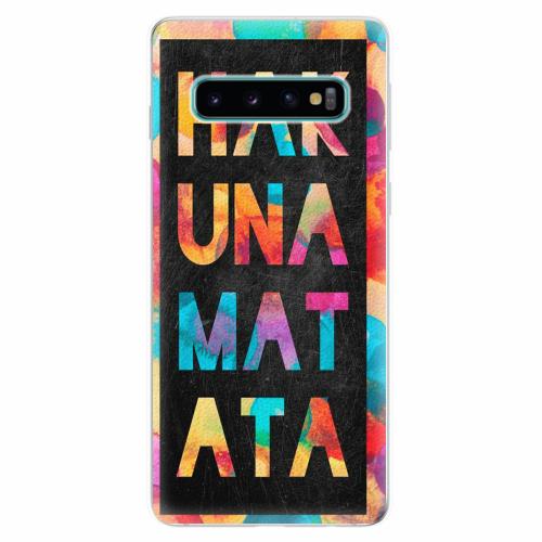 Silikonové pouzdro iSaprio - Hakuna Matata 01 - Samsung Galaxy S10