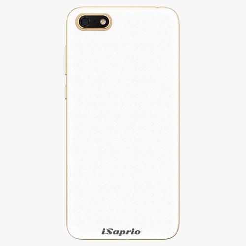 Silikonové pouzdro iSaprio - 4Pure - bílý - Huawei Honor 7S