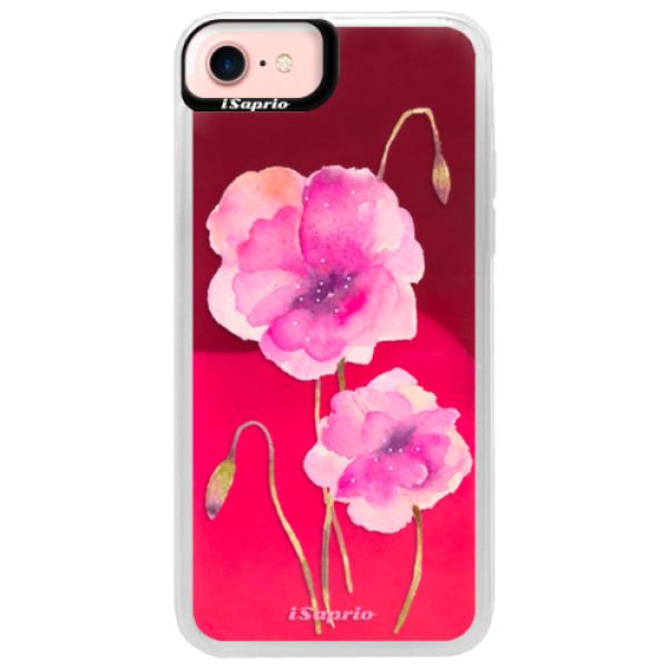 Neonové pouzdro Pink iSaprio - Poppies 02 - iPhone 7