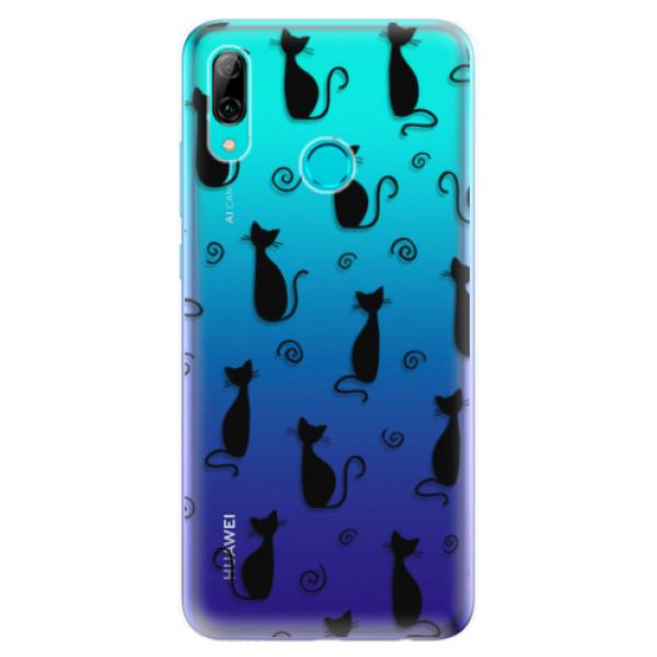 Odolné silikonové pouzdro iSaprio - Cat pattern 05 - black - Huawei P Smart 2019