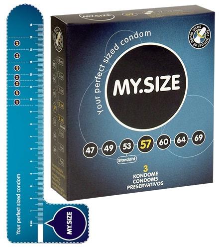 Kondomy My Size 18 cm, 5,7 cm 3ks