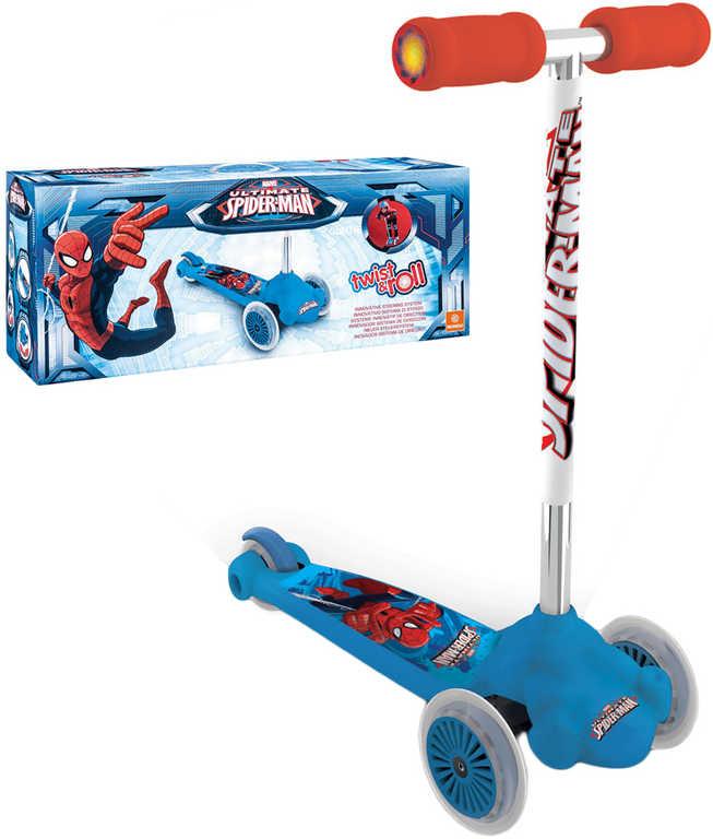 ACRA Koloběžka Mondo skládací kloubové řízení Spiderman modrá