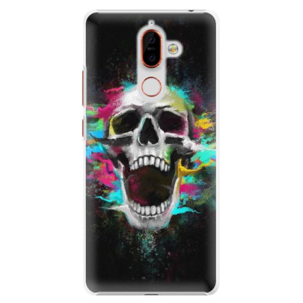 Plastové pouzdro iSaprio - Skull in Colors - Nokia 7 Plus