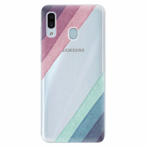 Silikonové pouzdro iSaprio - Glitter Stripes 01 - Samsung Galaxy A30