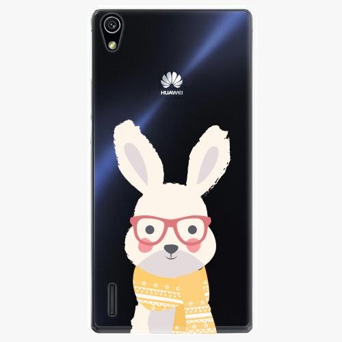 Plastový kryt iSaprio - Smart Rabbit - Huawei Ascend P7