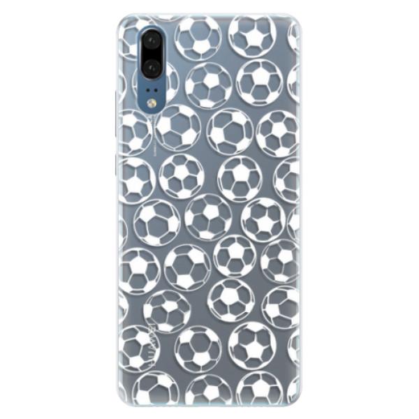 Silikonové pouzdro iSaprio - Football pattern - white - Huawei P20