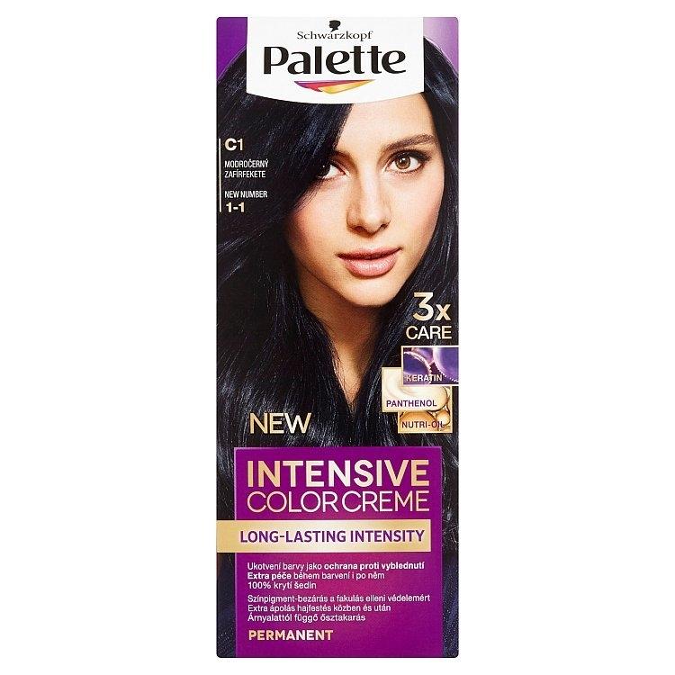 Schwarzkopf Intensive Color Creme barva na vlasy Modročerný C1 (1-1)