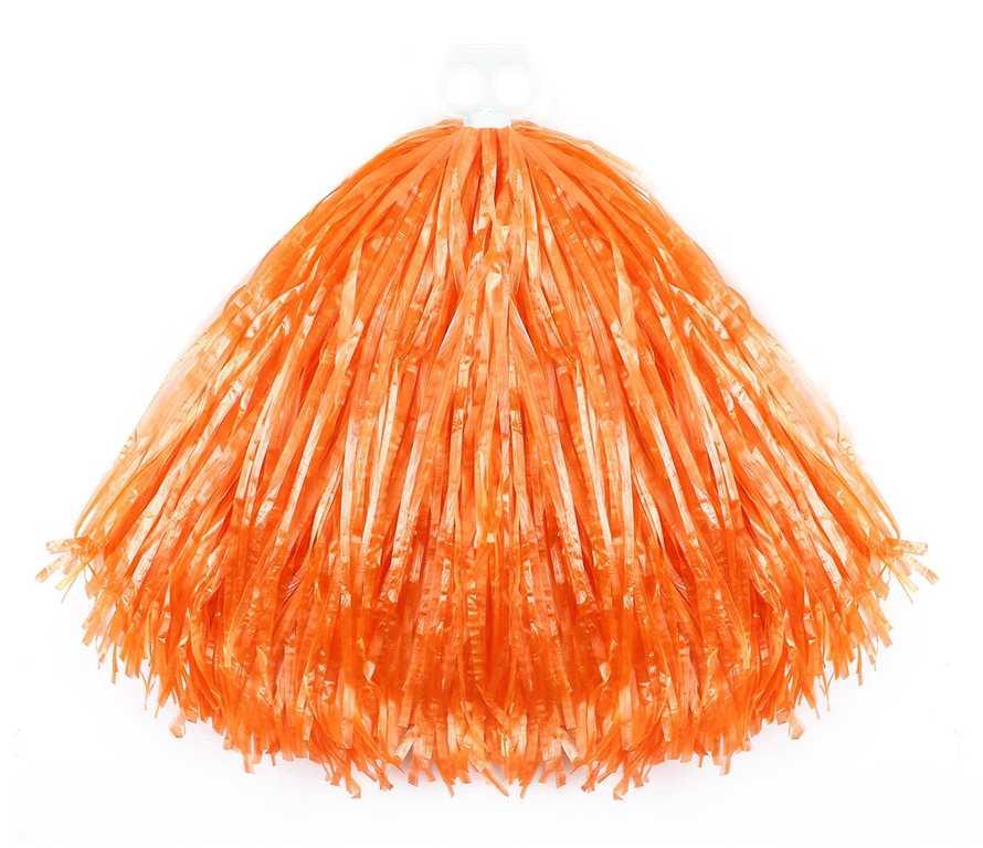 Mávátko sportovní POM POM oranžové třásně na fandění