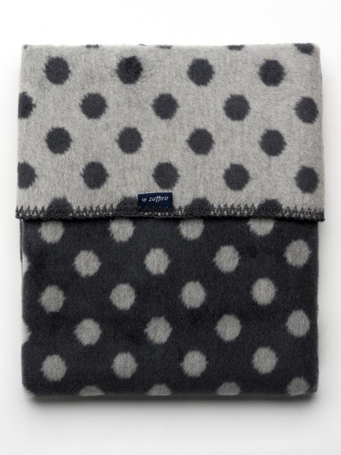 Dětská bavlněná deka Womar Puntíky 75x100 grafitovo-šedá - dle obrázku