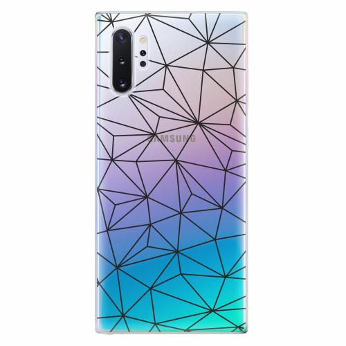 Silikonové pouzdro iSaprio - Abstract Triangles 03 - black - Samsung Galaxy Note 10+