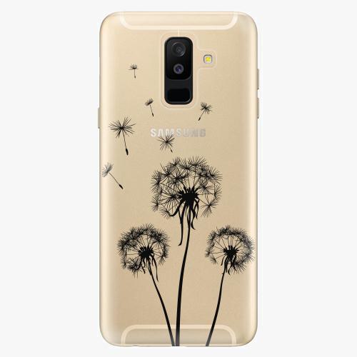 Plastový kryt iSaprio - Three Dandelions - black - Samsung Galaxy A6 Plus