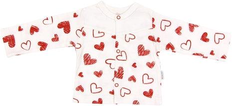 Bavlněná košilka Heart - 56 (1-2m)