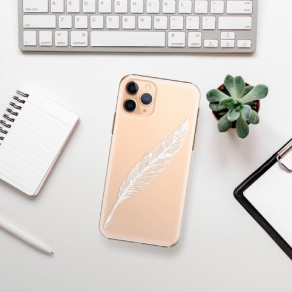 Plastové pouzdro iSaprio - Writing By Feather - white - iPhone 11 Pro