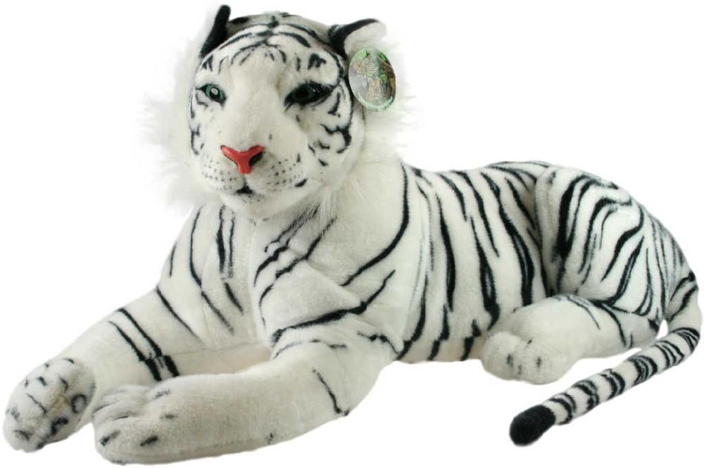 PLYŠ Tygr bílý ohromný 140cm PLYŠOVÉ HRAČKY
