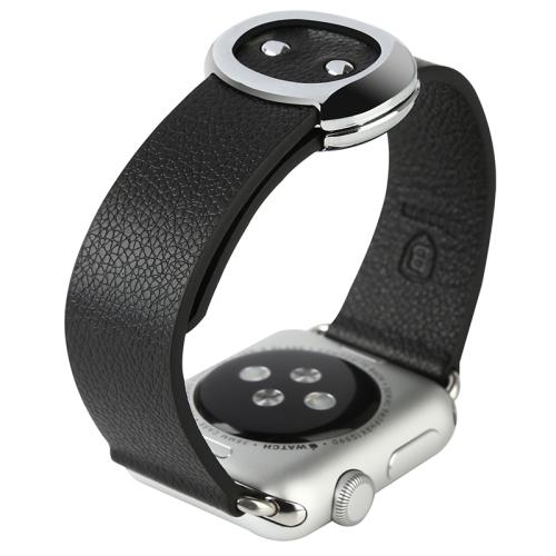 Kožený pásek / řemínek Baseus Modern Genuine Leather pro Apple Watch 38mm černý