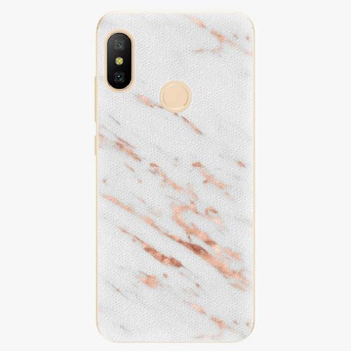 Silikonové pouzdro iSaprio - Rose Gold Marble - Xiaomi Mi A2 Lite