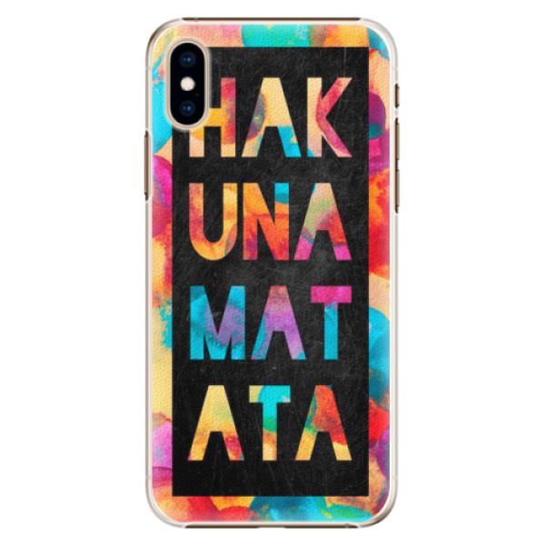 Plastové pouzdro iSaprio - Hakuna Matata 01 - iPhone XS
