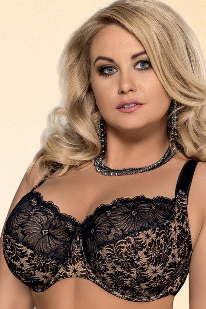 Dámská podprsenka 534 Chantal plus black lace