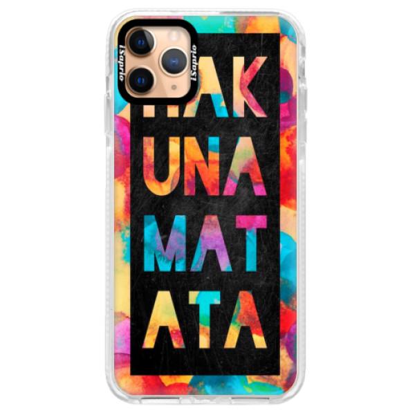 Silikonové pouzdro Bumper iSaprio - Hakuna Matata 01 - iPhone 11 Pro Max