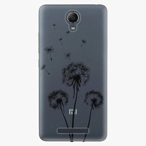 Plastový kryt iSaprio - Three Dandelions - black - Xiaomi Redmi Note 2